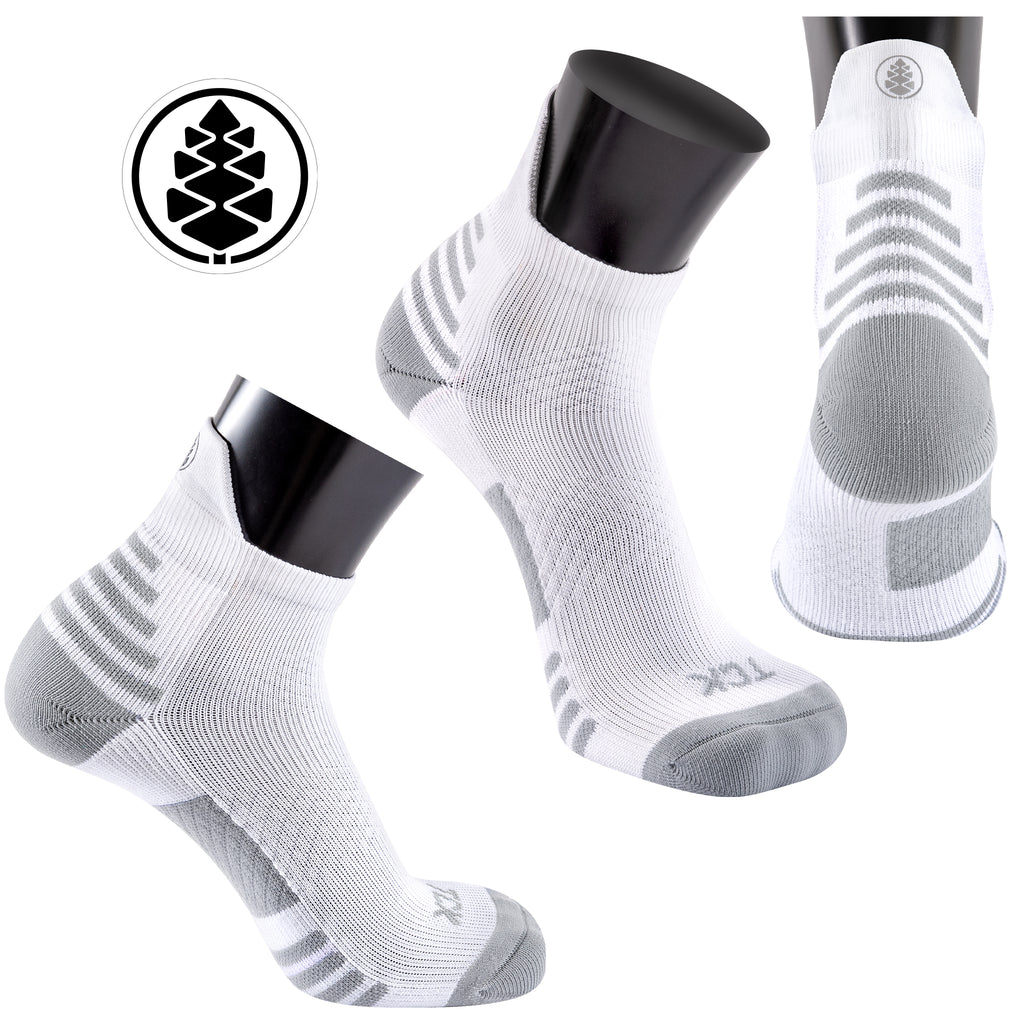 Light Compression Performance and Recovery Tabbed Low Crew Sock