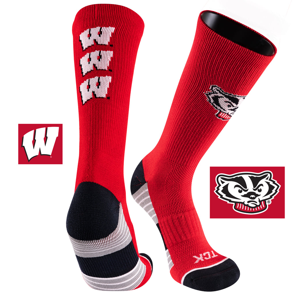 University of Wisconsin Team Screamer Performance Athletic Crew Socks