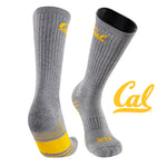 University of California Berkeley Day Tripper Half Cushion Pure Merino Wool Crew Socks