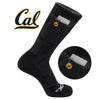 University of California Berkley Stash & Dash Zip Pocket Performance Crew Socks - 2 Pair Pack