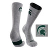 Michigan State University Day Tripper Half Cushion Pure Merino Wool Crew Socks