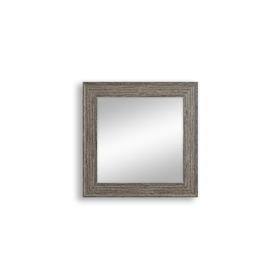 grey rustic mirror