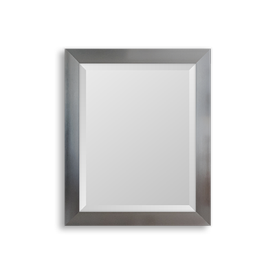 brushed silver mirror