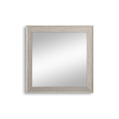 white rustic mirror