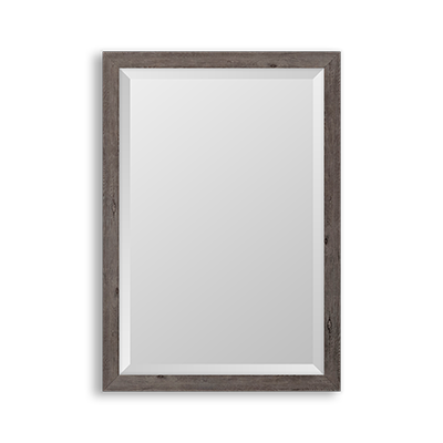 grey barnwood mirror