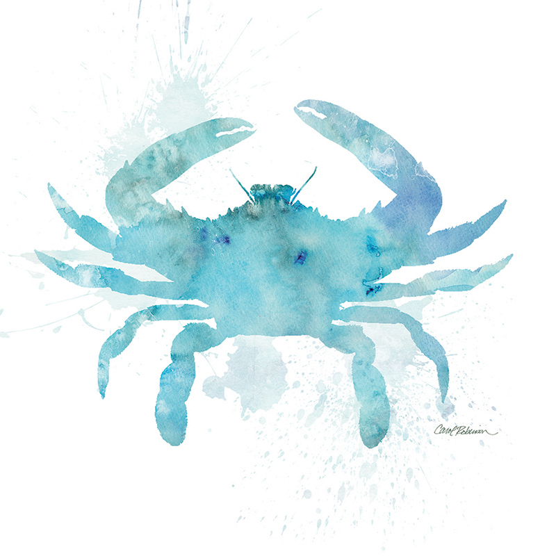 watercolor silhouette ~ crab