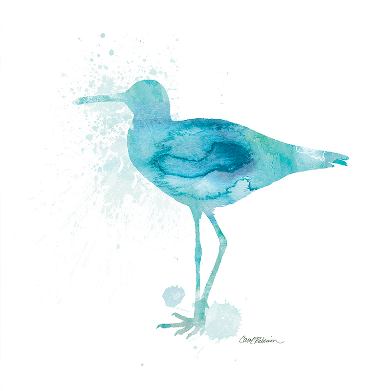watercolor silhouette ~ sandpiper