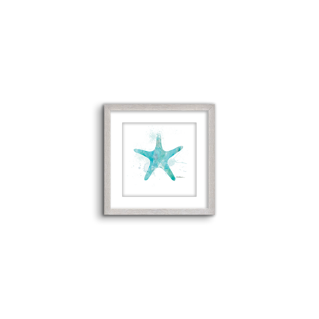 watercolor silhouette ~ starfish