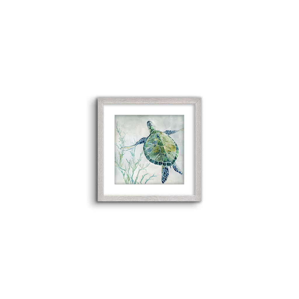 green watercolor turtle 02