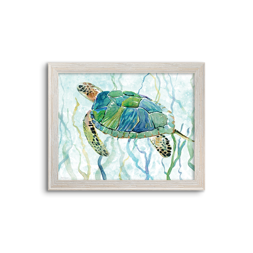 sea turtle in green 02