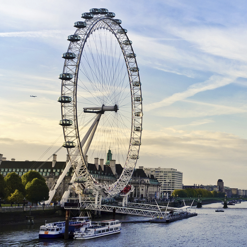 cityscape london ~ eye & thames
