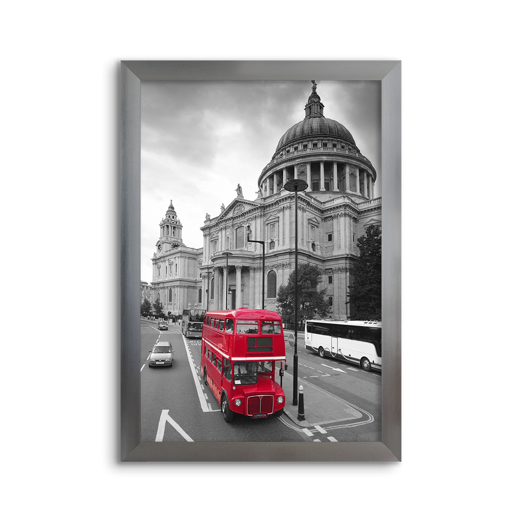 cityscape grey & red ~ st. paul's ~ london