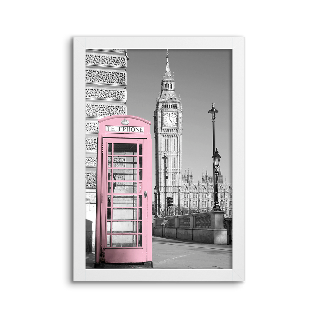 cityscape grey & pink ~ big ben ~ london