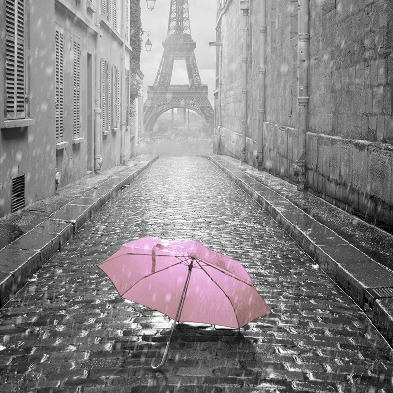 cityscape grey & pink ~ eiffel tower ~ paris