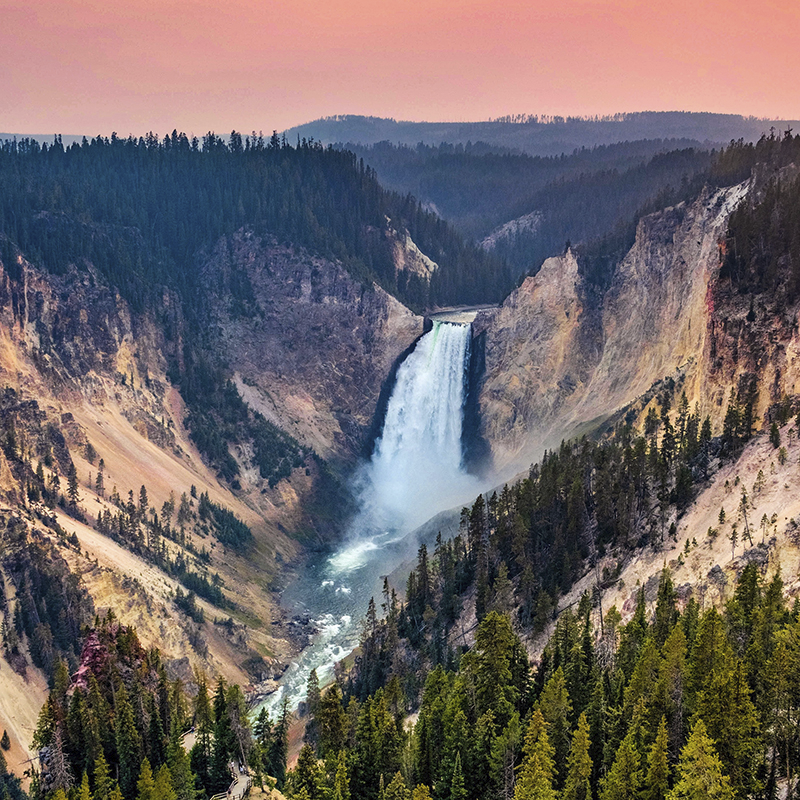 national parks ~ yellowstone falls