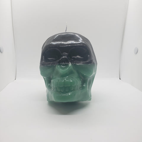 Large Skull Two Toned Candle
