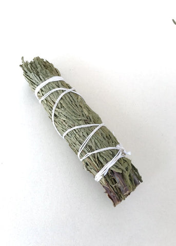"Dried Cedar Smudge Stick (4-5"")"