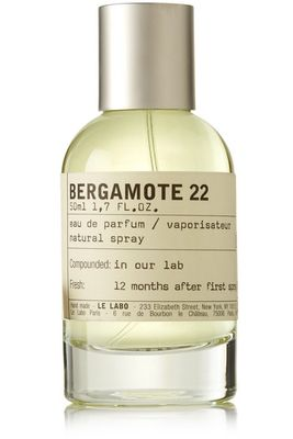 50ml bottle of Le labo Bergamot 22 eau de parfum