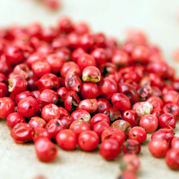 Pink pepper berries used to make essential oil for Black Opium copycat fragrances by Match Perfumes