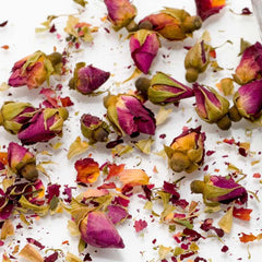 Turkish Rose petals used to make essential oil for Portrait of a Lady copycat fragrance by Match Perfumes