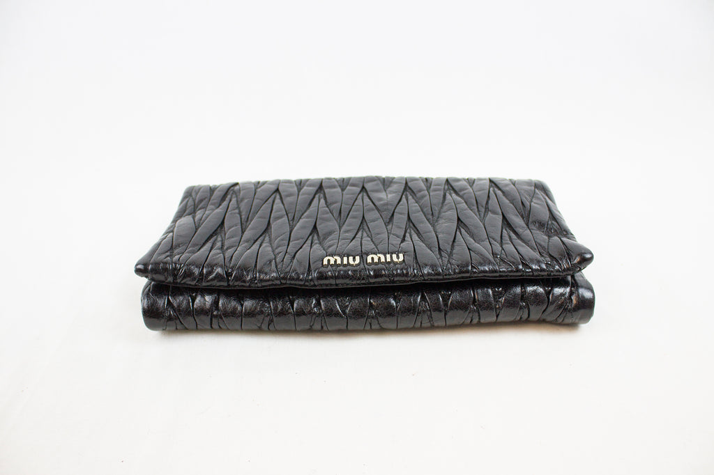 Miu Miu Black Leather Clutch