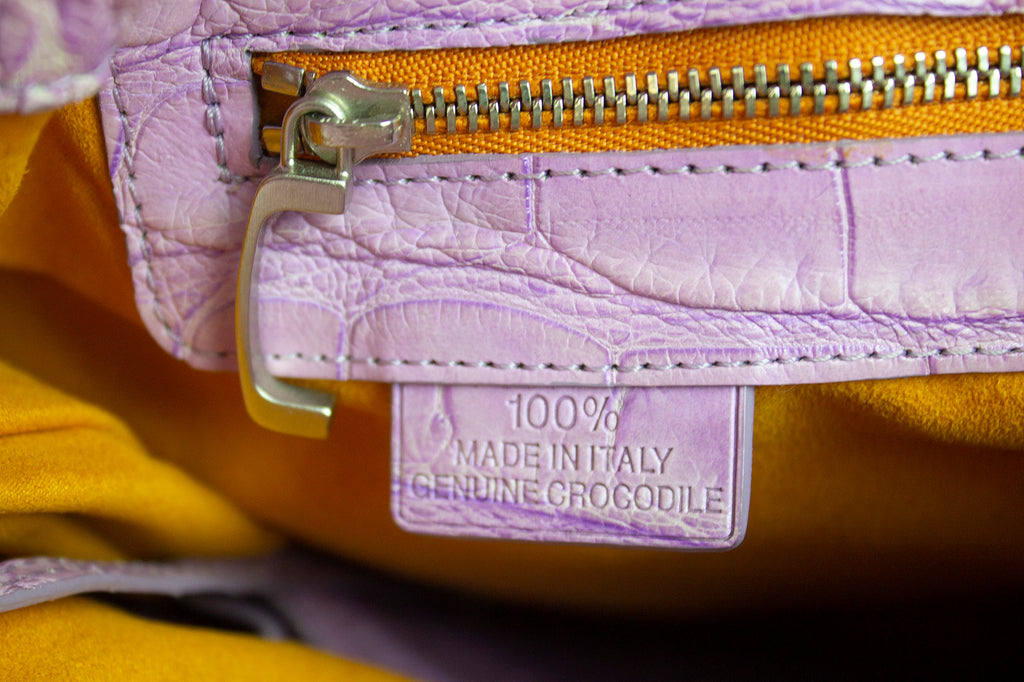 Nuti Purple Crocodile Bag