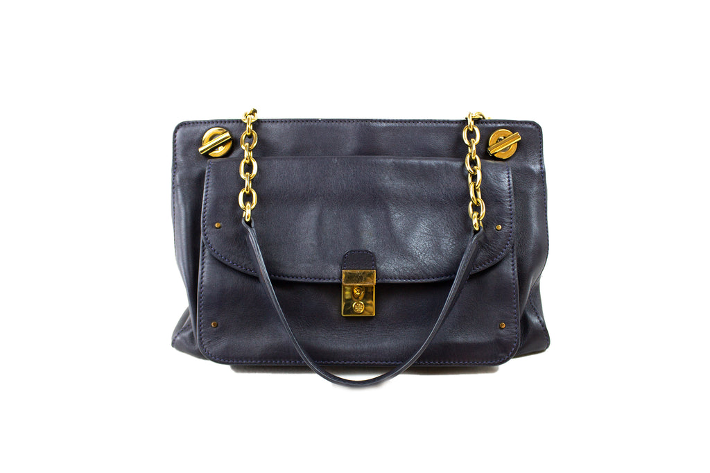 Tory Burch Blue Leather Handbag
