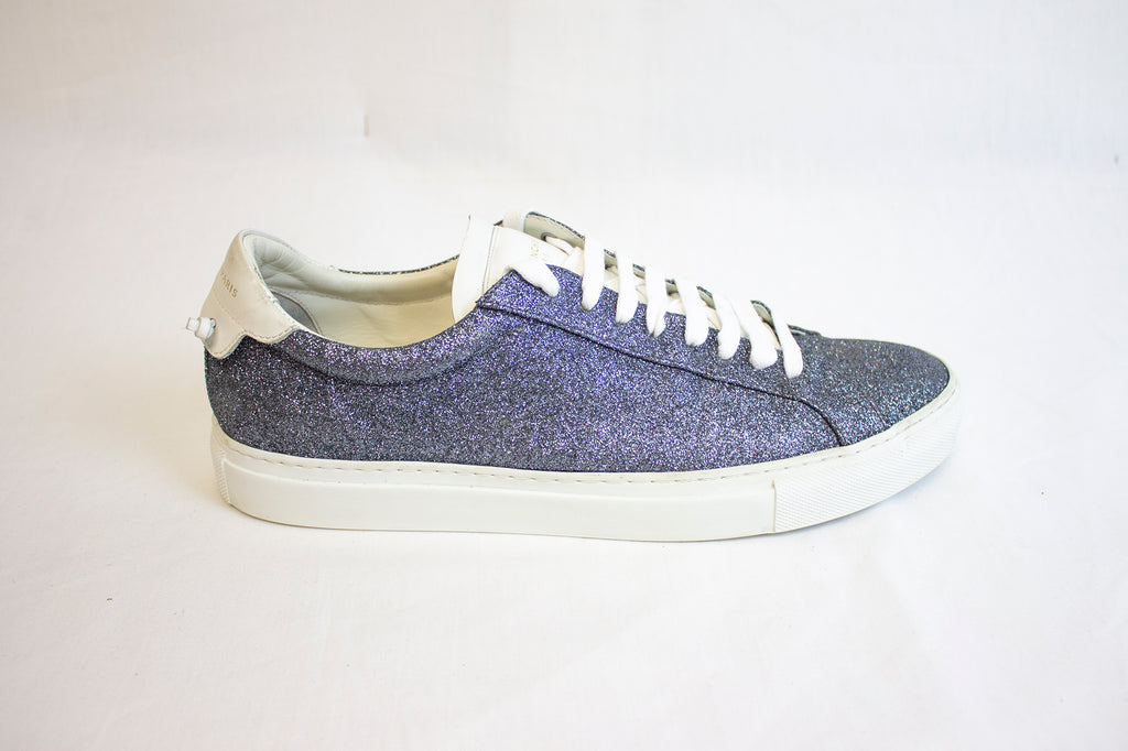 Givenchy Blue Glitter Sneakers | Size 10