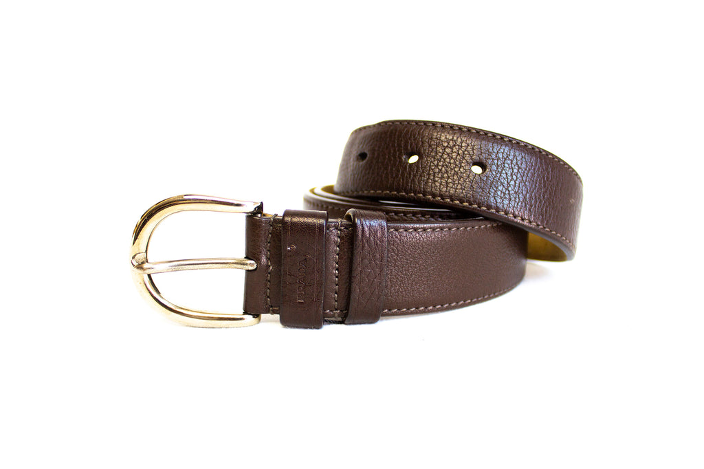 Prada Brown Leather Belt