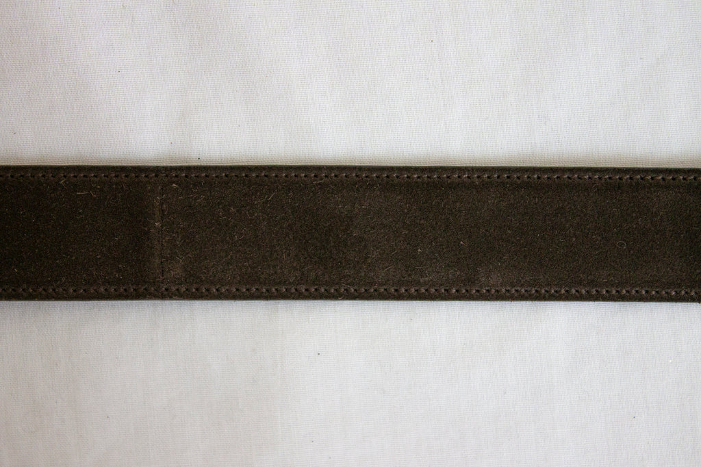 Salvatore Ferragamo Brow Suede Belt | US 38