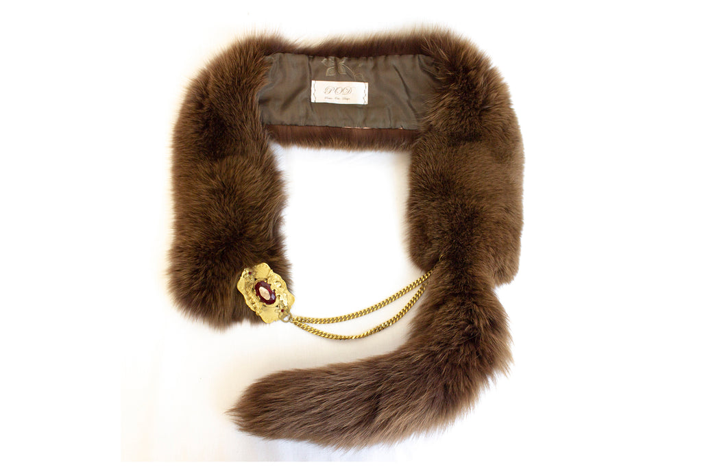 Vintage Fox Fur Scarf