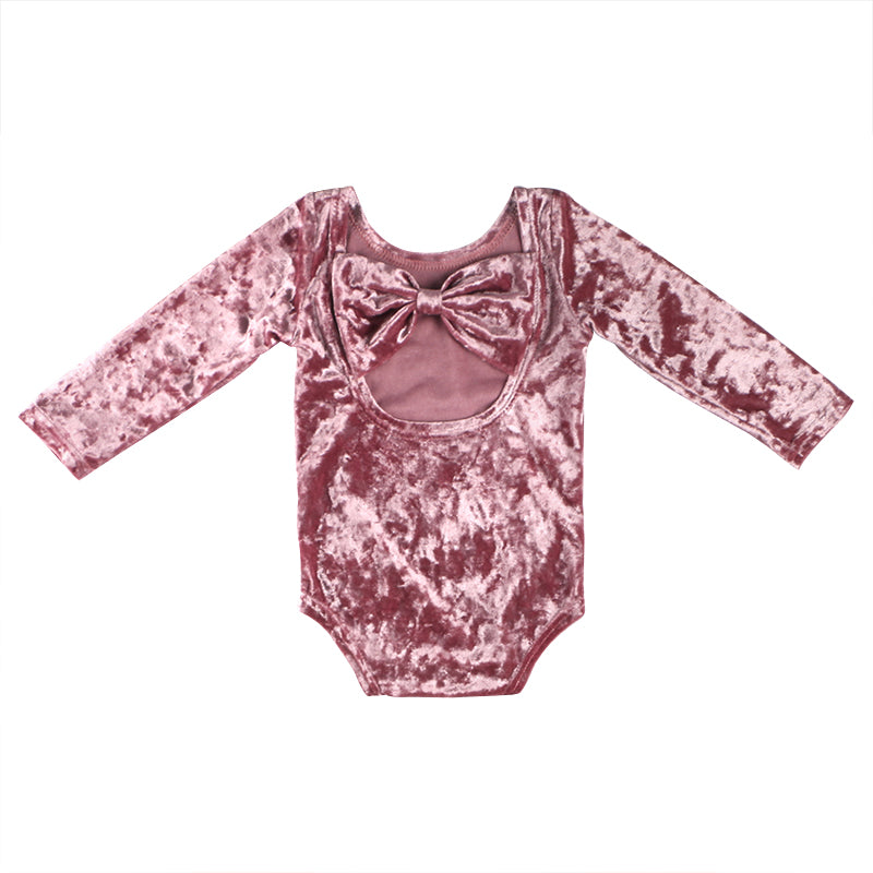 Dusty Rose Bow Back Bodysuit - Sassy Little Sunflower