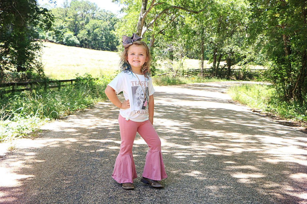 Mauve Bell Bottoms - Sassy Little Sunflower