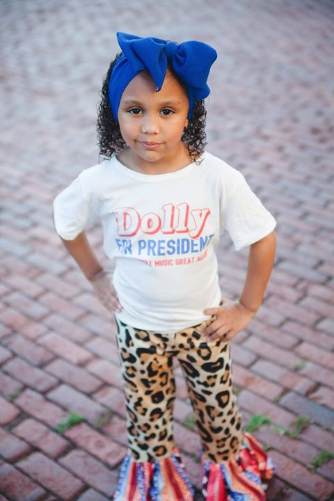 Dolly for President Graphic T-shirt or Onesie - Sassy Little Sunflower