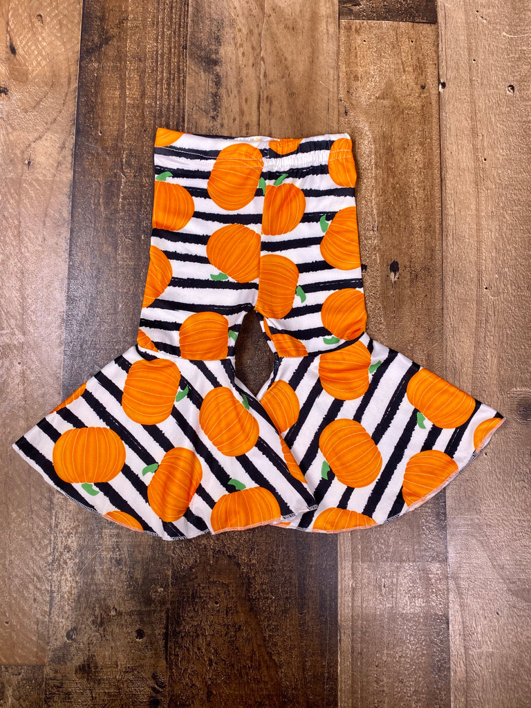 Halloween Striped Bell Bottoms - Sassy Little Sunflower