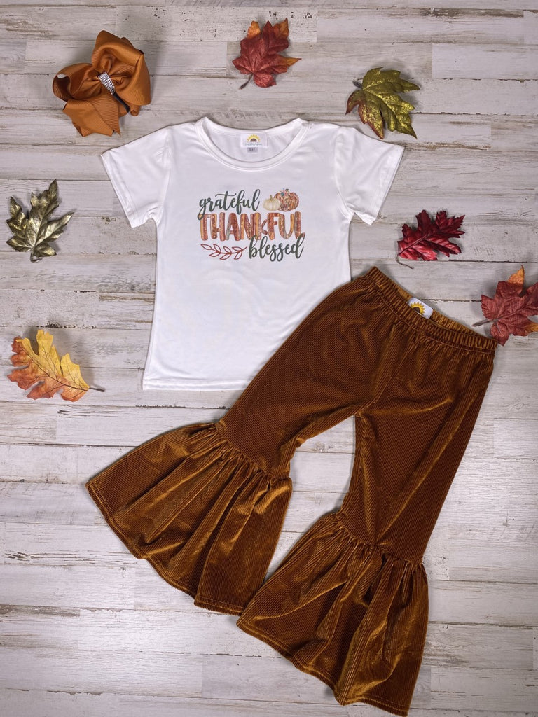 Brown Corduroy Retro Bell Bottoms