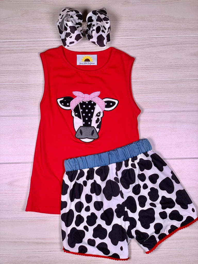 Cow Short Set