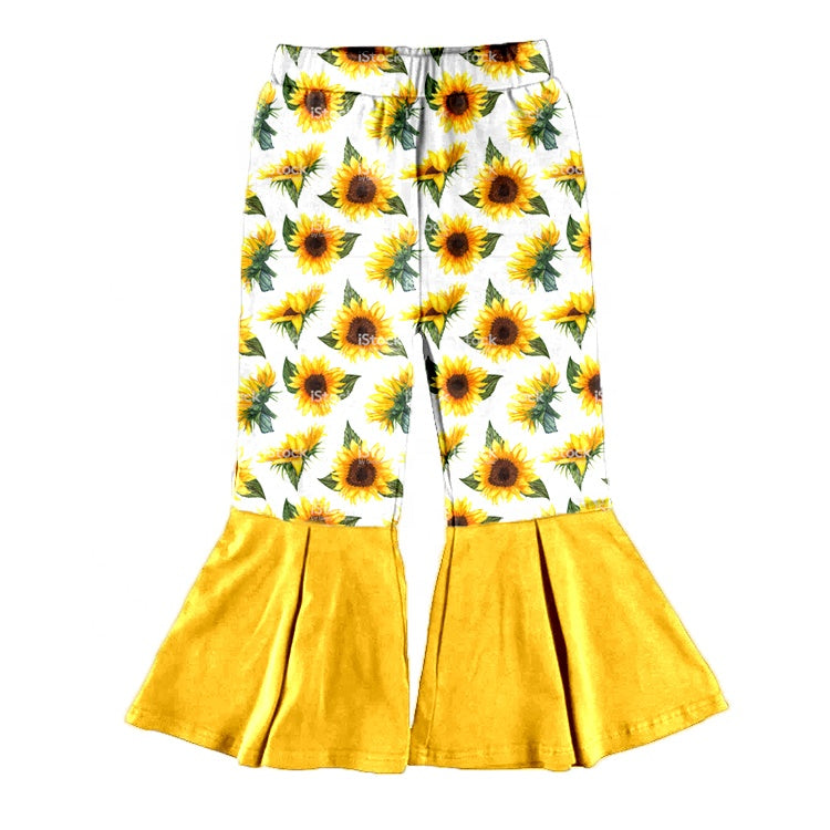 Sunny Sunflower Bell Bottoms - Sassy Little Sunflower