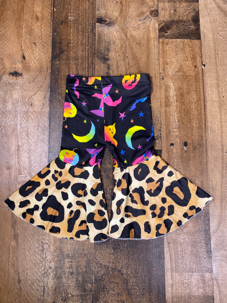 Wild Halloween Leopard Bell Bottoms - Sassy Little Sunflower