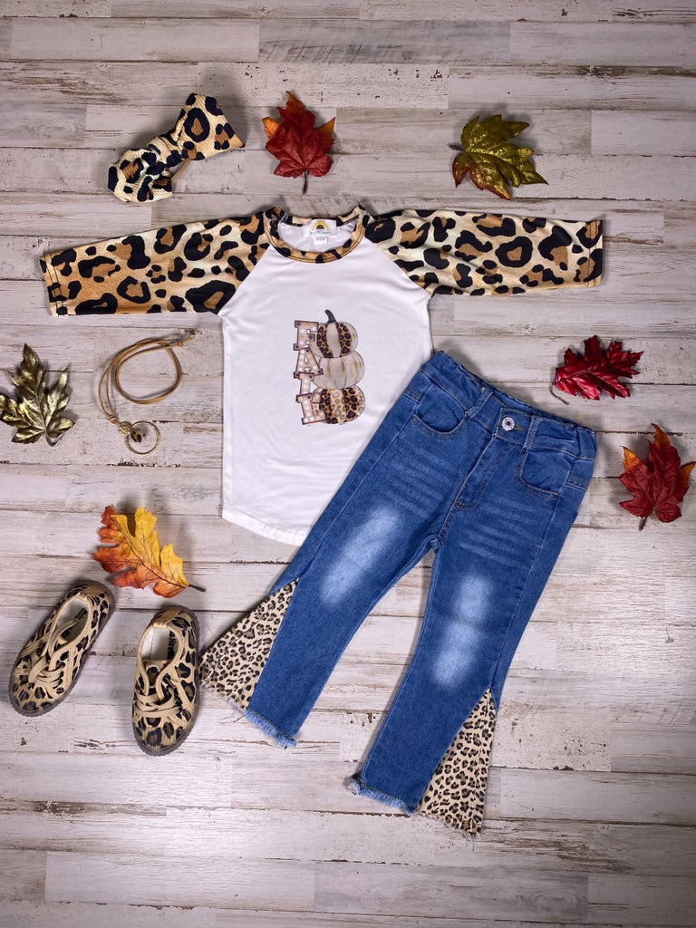 Dark Blue Washed Jeans with Animal Print detail or , Blue  Jean Jacket w/ Animal Print detail (SOLD SEPARATELY)