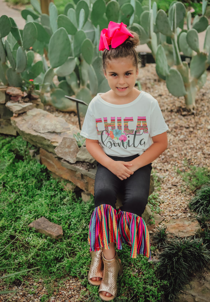Black & Serape Bell Bottoms - Sassy Little Sunflower