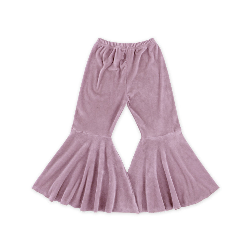 Lavender Rose Velour Bell Bottoms - Sassy Little Sunflower