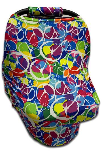 Peace Car Seat Cover