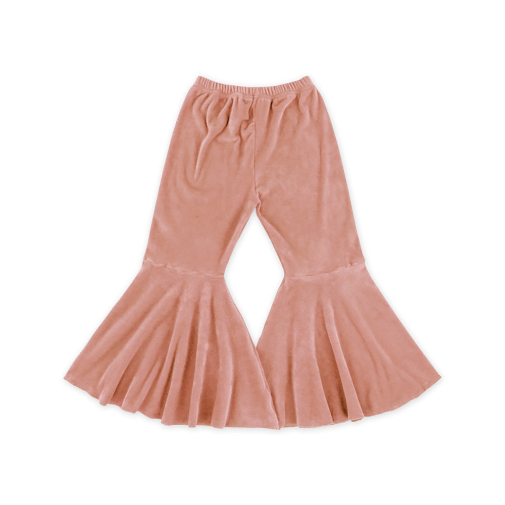Blush Velour Bell Bottoms - Sassy Little Sunflower