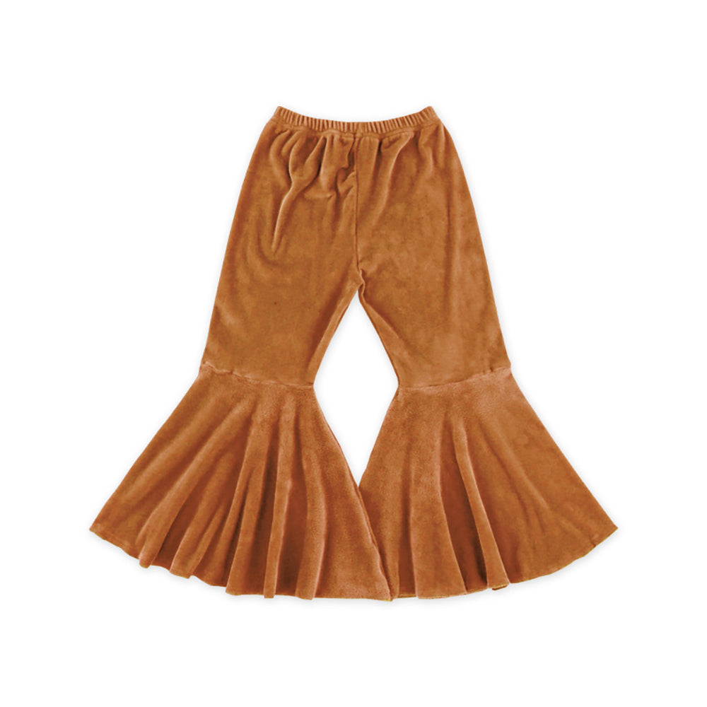 Caramel Velour Bell Bottoms - Sassy Little Sunflower
