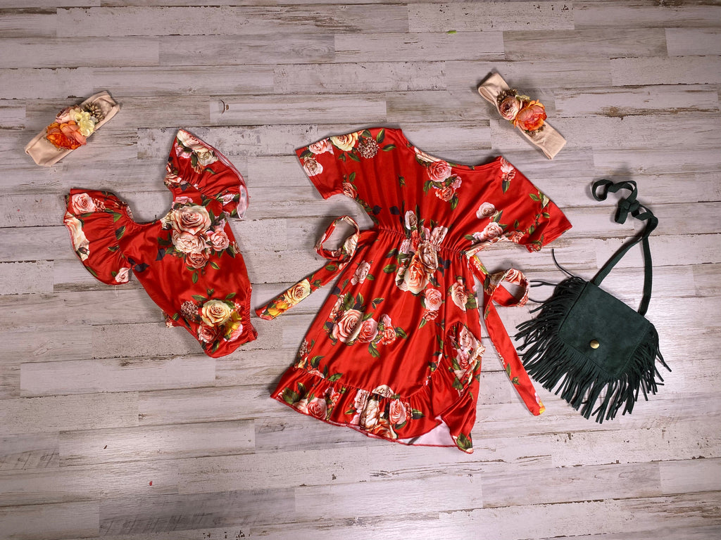 Red Boho Beauty Dress - Sassy Little Sunflower