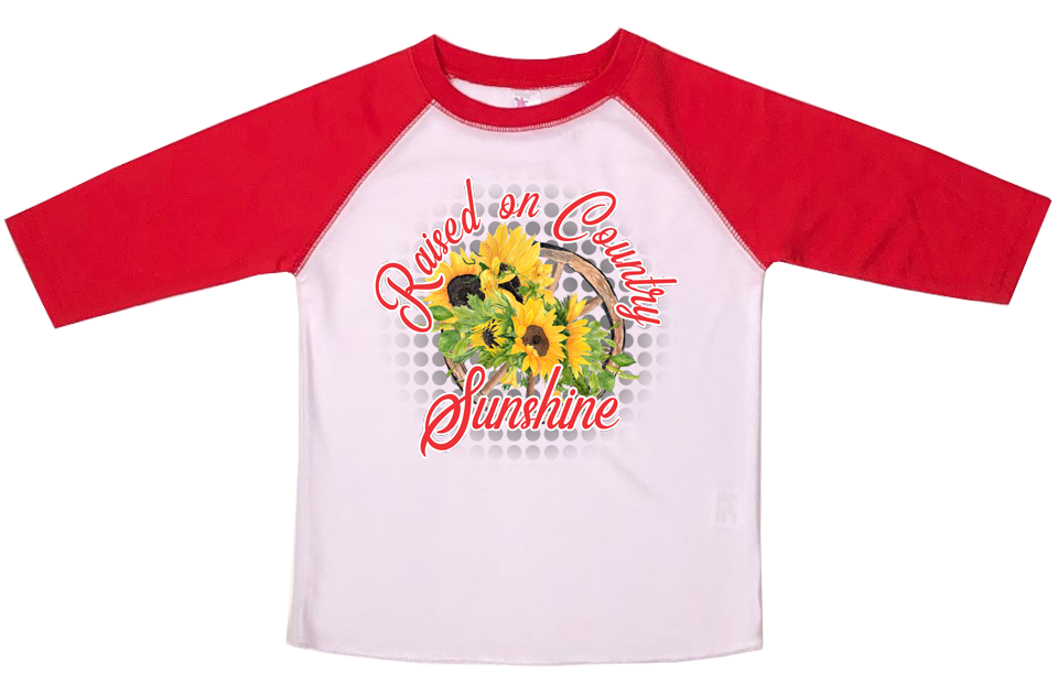 Country Sunshine Graphic T-shirt - Sassy Little Sunflower
