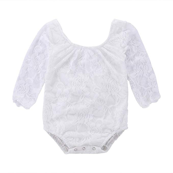 White Lace layering Bodysuit - Sassy Little Sunflower