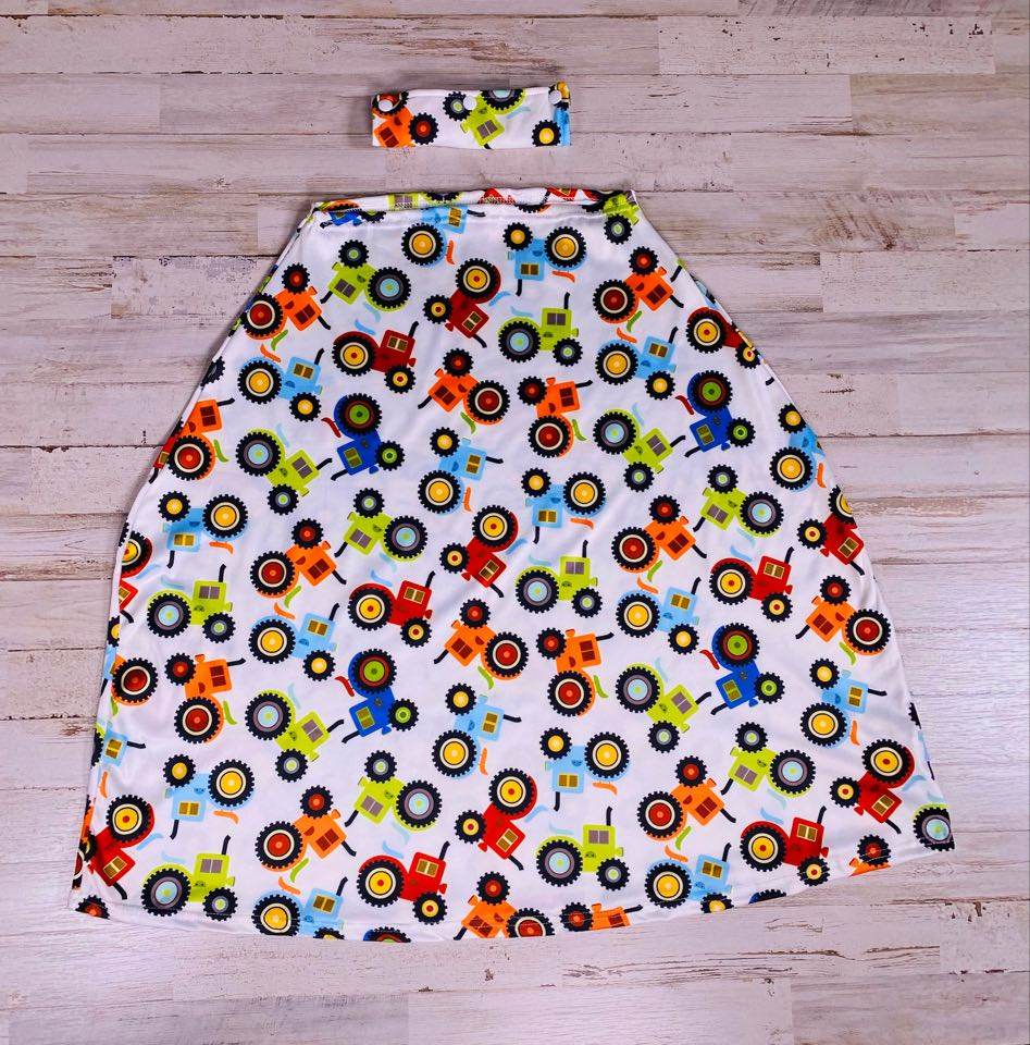 Boys Tractor Car Seat Cover - Sassy Little Sunflower