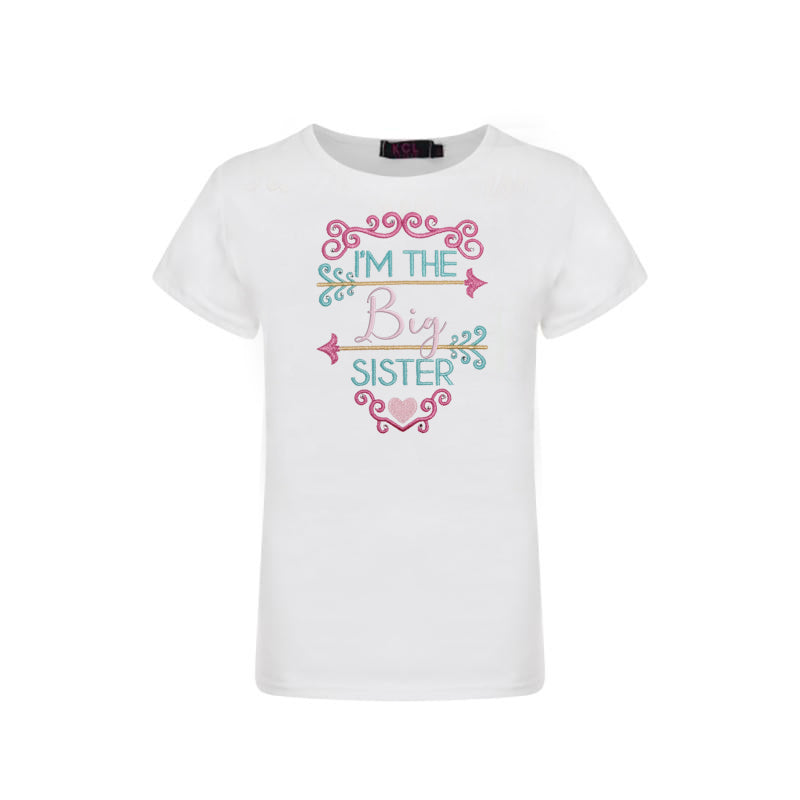 The Big Sister Graphic T-shirt - Sassy Little Sunflower